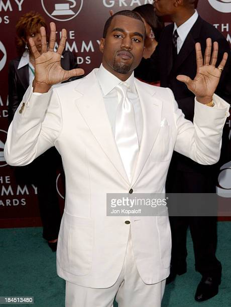 Kanye West during The 47th Annual GRAMMY Awards Arrivals at Staples Center in Los Angeles California United States