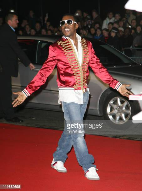 Kanye West during The Brit Awards 2006 with MasterCard Outside Arrivals at Earls Court in London Great Britain
