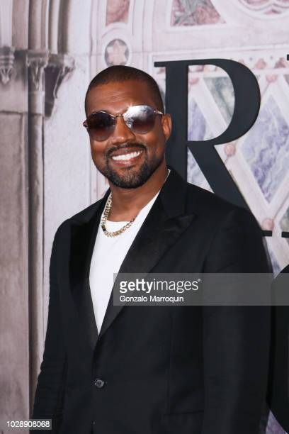 Kanye West during the Ralph Lauren 50th Anniversary September 2018 New York Fashion Week at Bethesda Terrace on September 7 2018 in New York City