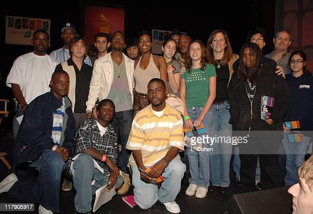 Kanye West Fantasia Barrino and National GRAMMY Career Day students