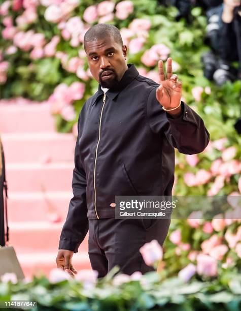 Kanye West is seen arriving to the 2019 Met Gala Celebrating Camp Notes on Fashion at The Metropolitan Museum of Art on May 6 2019 in New York City