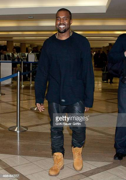 Kanye West is seen at LAX on December 05 2012 in Los Angeles California