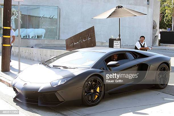 Kanye West is seen driving on June 30, 2012 in Los Angeles, California.