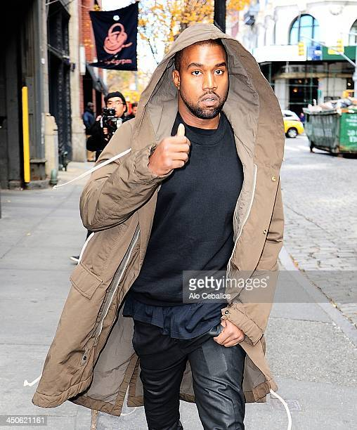 Kanye West is seen in Soho on November 19 2013 in New York City