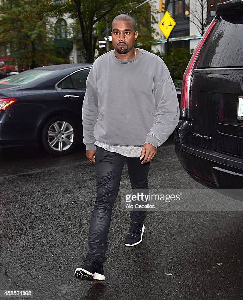 Kanye West is seen in Soho on November 6 2014 in New York City