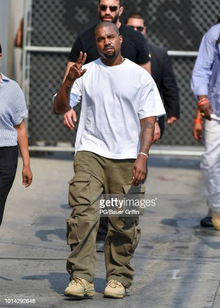 Kanye West is seen on August 09 2018 in Los Angeles California