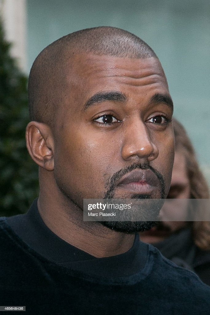 Kanye West is seen on March 9, 2015 in Paris, France.