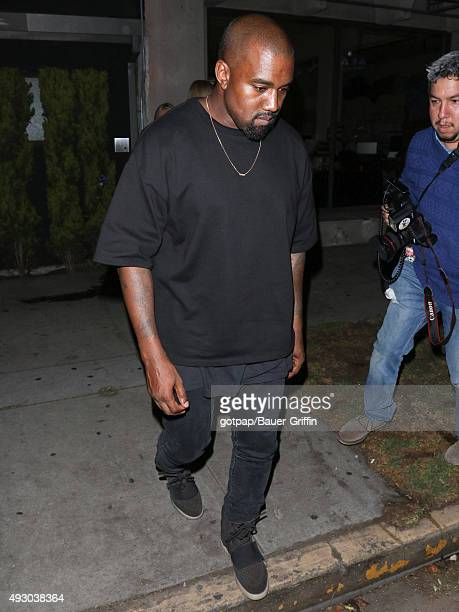 Kanye West is seen on October 16 2015 in Los Angeles California