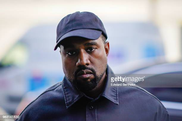 Kanye West is seen outside 1017 ALYX 9SM show during Paris Fashion Week Menswear Spring/Summer 2019 on June 24 2018 in Paris France