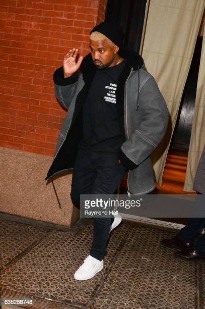 Kanye West is seen walking in soho on February 14 2017 in New York City
