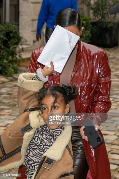 Kanye West Kim Kardashian West and North West are seen on March 02 2020 in Paris France