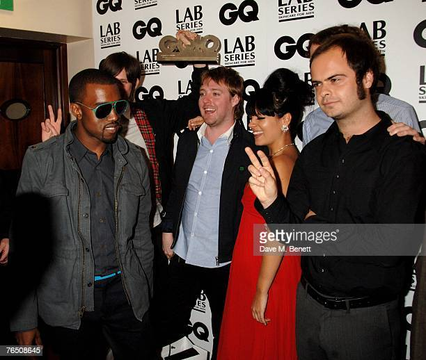 Kanye West , Lily Allen with Kaiser Chiefs including singer Ricky Wilson attend the GQ Men Of The Year Awards, at the Royal Opera House on September...