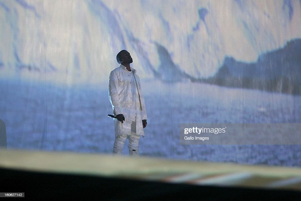 Kanye West performing at The Dome on February 2, 2013, in Johannesburg, South Africa.