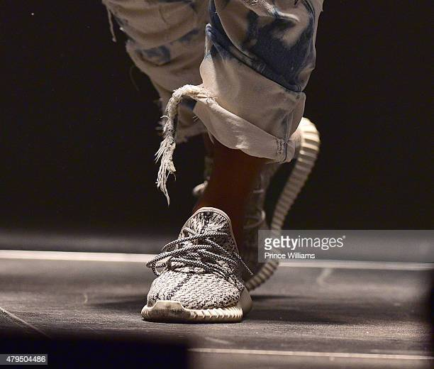 Kanye West performs at Hot 1079 Birthday Bash Block Show at Philips Arena on June 20 2015 in Atlanta Georgia