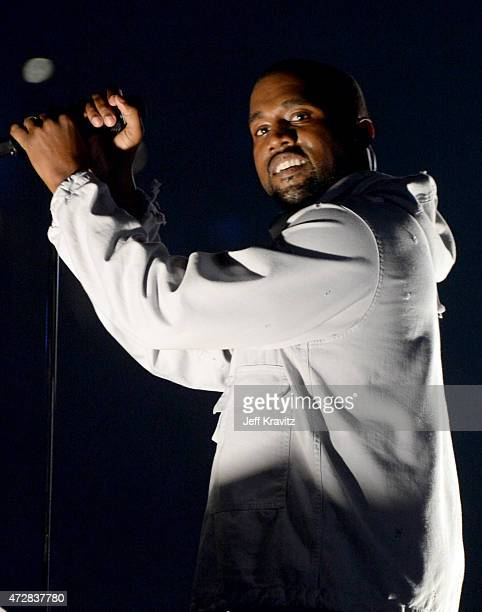 Kanye West performs at StubHub Center on May 9, 2015 in Los Angeles, California.