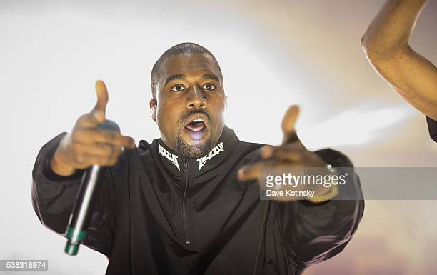Kanye West performs at the 2016 Hot 97 Summer Jam at MetLife Stadium on June 5 2016 in East Rutherford New Jersey