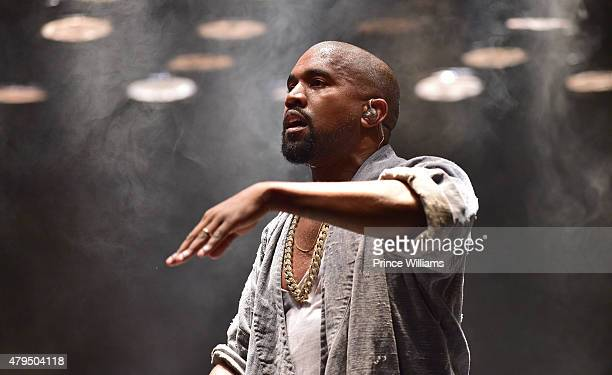 Kanye West performs at the Hot 107.9 Birthday Bash Block Show at Philips Arena on June 20, 2015 in Atlanta, Georgia.