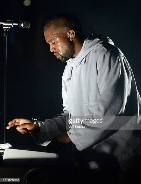 Kanye West performs during 102.7 KIIS FM's Wango Tango at StubHub Center on May 9, 2015 in Los Angeles, California.