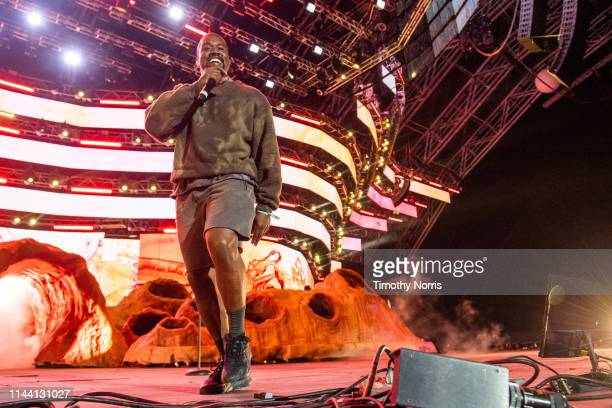 Kanye West performs during 2019 Coachella Valley Music And Arts Festival on April 20 2019 in Indio California