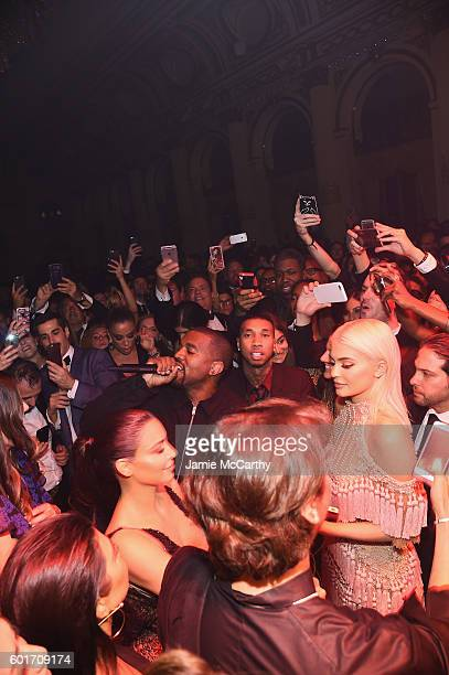 Kanye West performs during Harper's Bazaar's celebration of ICONS By Carine Roitfeld presented by Infor Laura Mercier and Stella Artois at The Plaza...