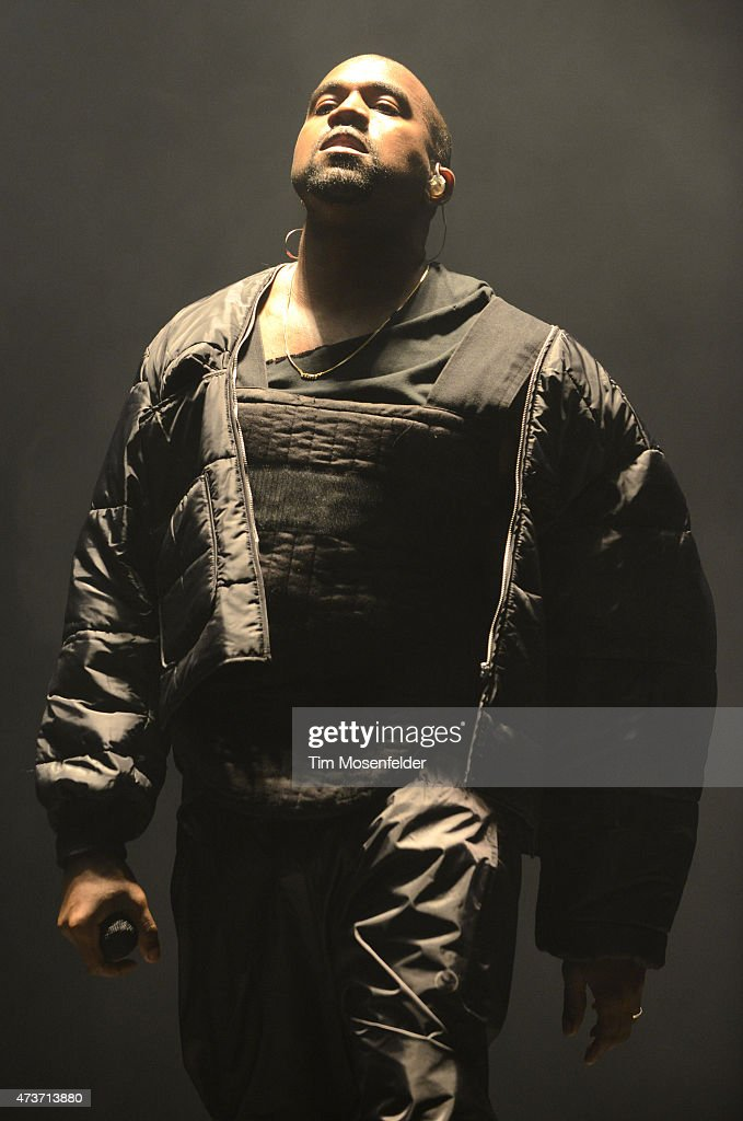 Kanye West performs during Power 106's Powerhouse 2015 at Honda Center on May 16, 2015 in Anaheim, California.