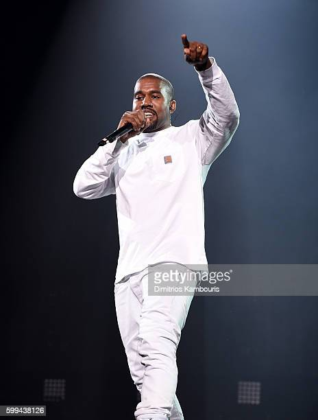 Kanye West performs during Puff Daddy and Bad Boy Family Reunion Tour at Madison Square Garden on September 4 2016 in New York City