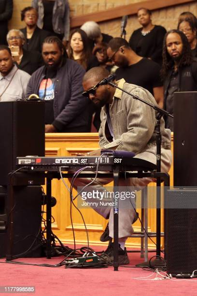 Kanye West performs during Sunday Service at The Greater Allen A.M.E. Cathedral of New York on September 29, 2019 in New York City.