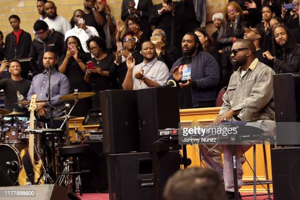Kanye West performs during Sunday Service at The Greater Allen AME Cathedral of New York on September 29 2019 in New York City