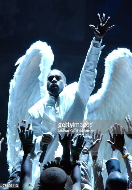 Kanye West performs Jesus Walks Photo by Michael Caulfield Archive/WireImage for The Recording Academy