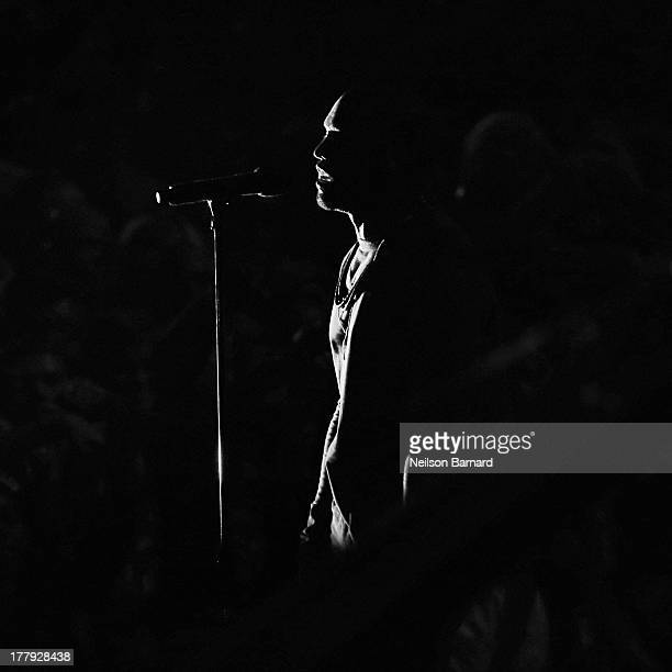 Kanye West performs on stage during the 2013 MTV Video Music Awards at the Barclays Center on August 25 2013 in the Brooklyn borough of New York City