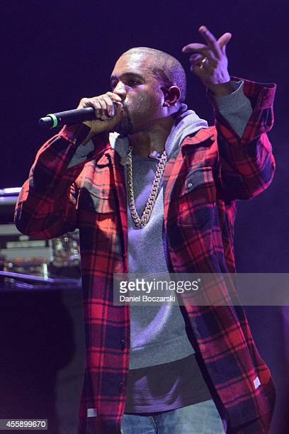 Kanye West performs on stage for AAHH Fest 2014 at Union Park on September 21 2014 in Chicago United States