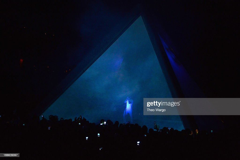 Kanye West performs onstage at the Adult Swim Upfront Party 2013 at Roseland Ballroom on May 15, 2013 in New York City. 23698_002_0228.JPG