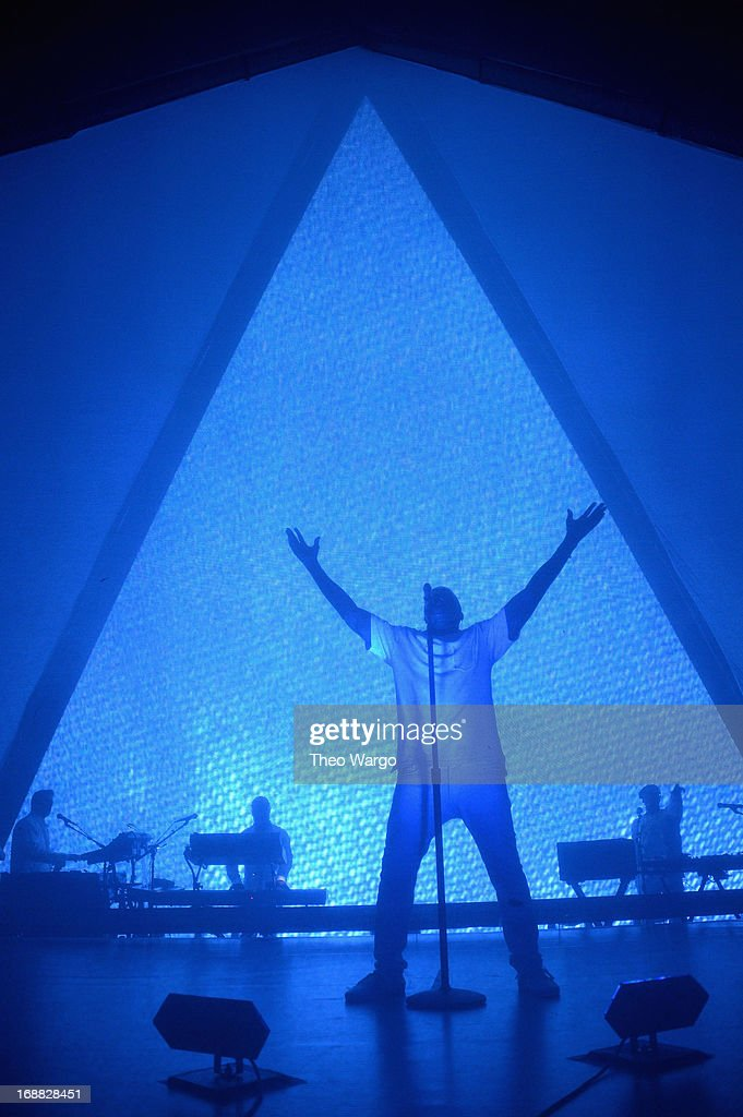 Kanye West performs onstage at the Adult Swim Upfront Party 2013 at Roseland Ballroom on May 15, 2013 in New York City. 23698_002_0211.JPG