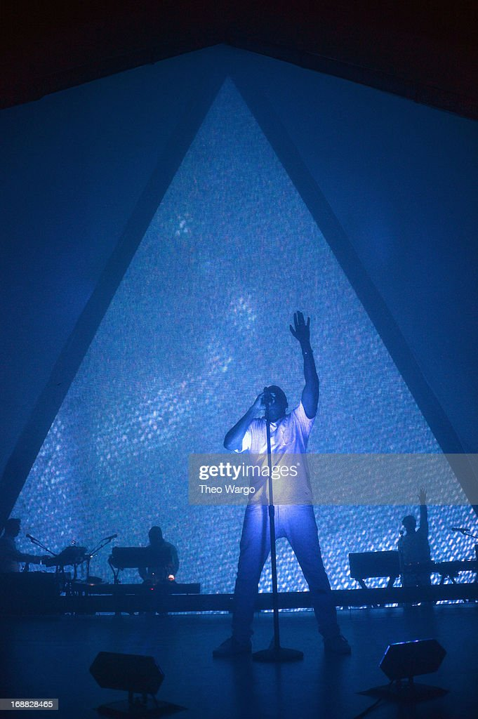 Kanye West performs onstage at the Adult Swim Upfront Party 2013 at Roseland Ballroom on May 15, 2013 in New York City. 23698_002_0207.JPG