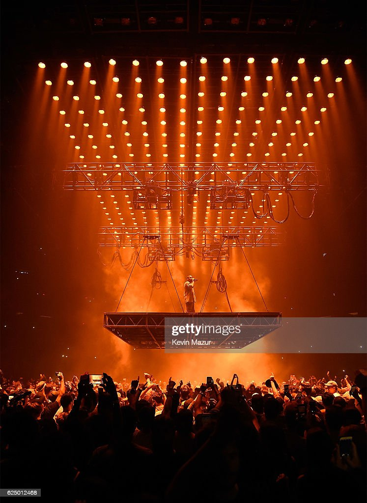Kanye West Performs Onstage During His U0027Saint Pablou0027 Tour At Madison Square  Garden On