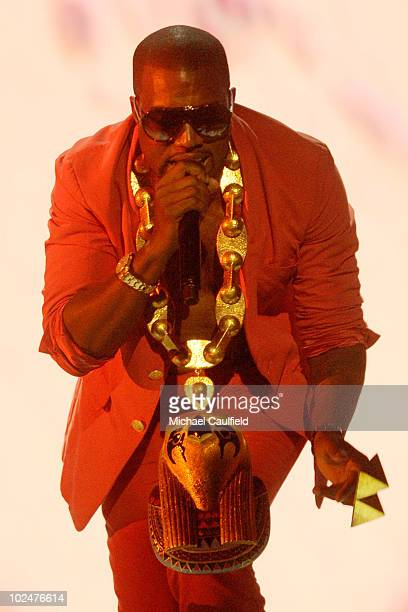 Kanye West performs onstage during the 2010 BET Awards held at the Shrine Auditorium on June 27 2010 in Los Angeles California