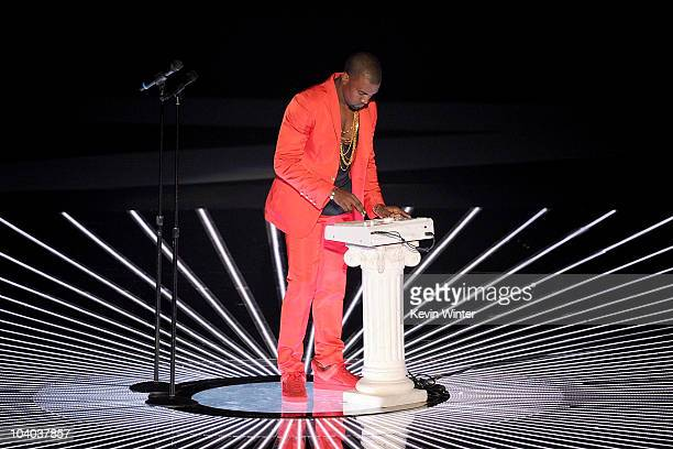Kanye West performs onstage during the 2010 MTV Video Music Awards at NOKIA Theatre LA LIVE on September 12 2010 in Los Angeles California