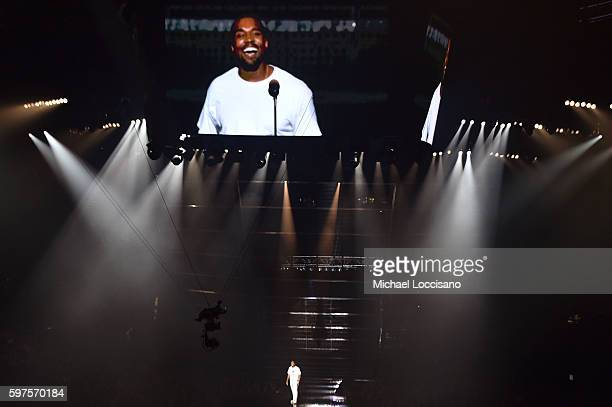 Kanye West performs onstage during the 2016 MTV Video Music Awards at Madison Square Garden on August 28 2016 in New York City