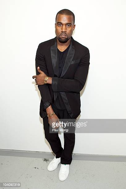 Kanye West poses for a photo at the Rodarte Spring 2011 fashion show during MercedesBenz Fashion Week on September 14 2010 in New York City