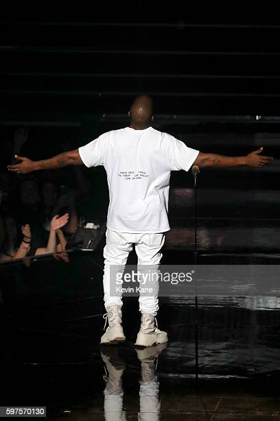 Kanye West presents onstage during the 2016 MTV Video Music Awards at Madison Square Garden on August 28 2016 in New York City