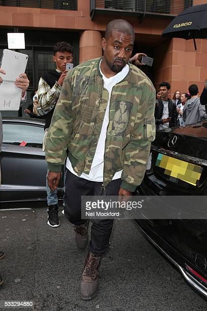 Kanye West seen at C London restaurant on May 21 2016 in London England
