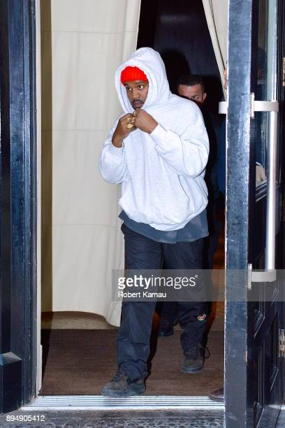 Kanye West seen out and about in Manhattan on December 18 2017 in New York City