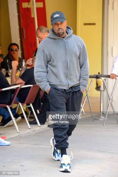Kanye West seen out and about in Manhattan on June 15 2018 in New York City