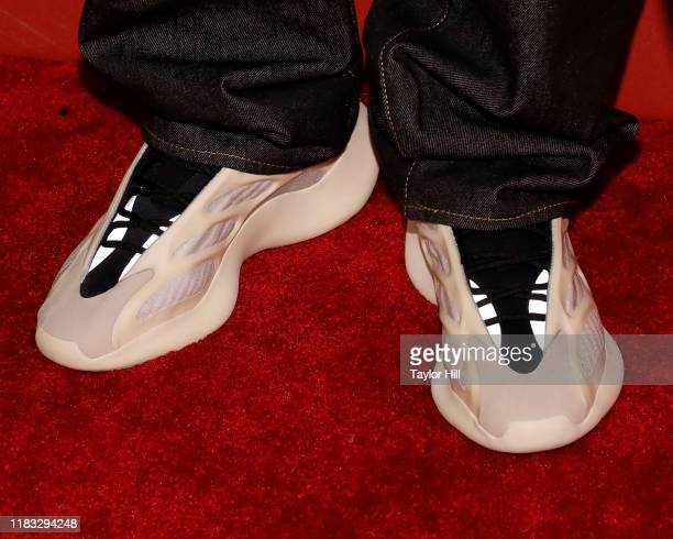 Kanye West, shoe detail, attends Fashion Group International's 2019 Night of Stars at Cipriani Wall Street on October 24, 2019 in New York City.