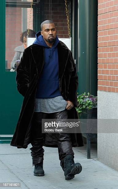 Kanye West sighted on the streets of Manhattan on November 29 2012 in New York City