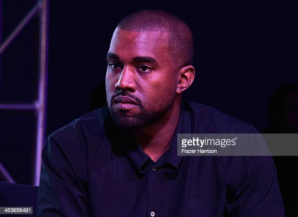 Kanye West speaks at Surface Magazine's DesignDialogues No 6 With Hans Ulrich Obrist Kanye West And Jacques Herzog at Moore Building on December 5...