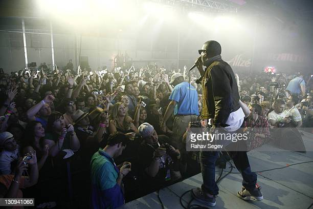 Kanye West surprise performance at Dell presents Perez Hilton's One Night in Austin on day 4 of the 2009 SXSW Music and Media Conference on March 21,...