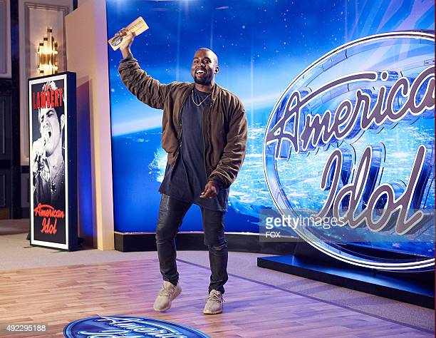 Kanye West surprises the Judges and Ryan Seacrest on American Idol by auditioning in San Francisco Pictured Kanye West shows off his Golden Ticket on...