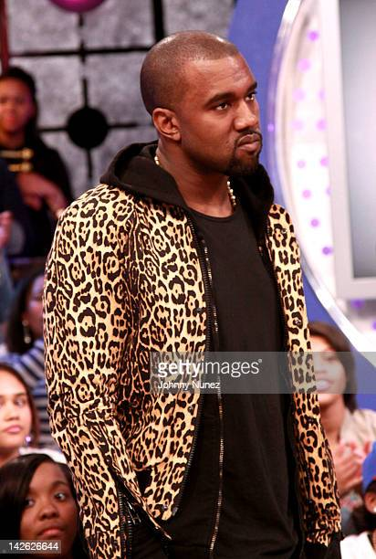 be52bcd64d4 Kanye West visits BET s 106 Park on April 9 2012 in New York United States