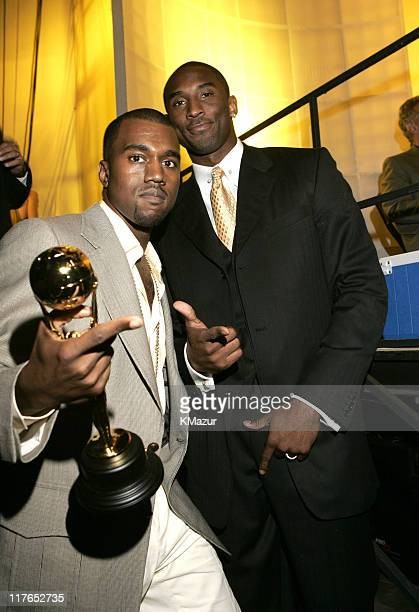 Kanye West winner of Best New Male Artist with Kobe Bryant